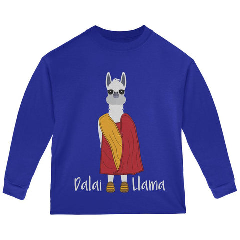 Funny Dalai Lama Llama Pun Toddler Long Sleeve T Shirt