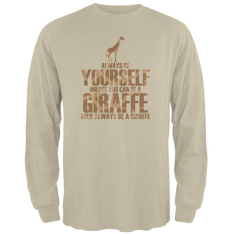 Always Be Yourself Giraffe Mens Long Sleeve T Shirt
