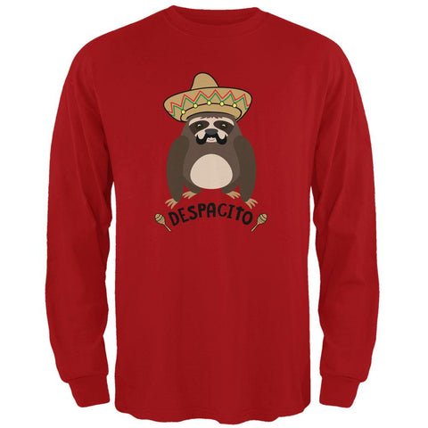 Despacito Means Slowly Funny Sloth Pun Mens Long Sleeve T Shirt