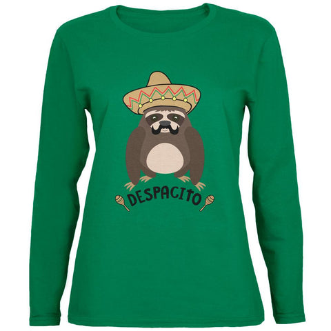 Despacito Means Slowly Funny Sloth Pun Womens Long Sleeve T Shirt