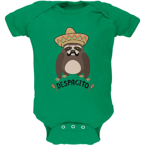 Despacito Means Slowly Funny Sloth Pun Soft Baby One Piece