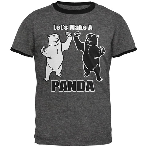 Let's Make a Panda Funny Mens Ringer T Shirt
