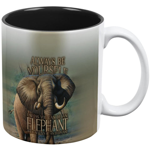 Always Be Yourself Unless Elephant All Over Coffee Mug