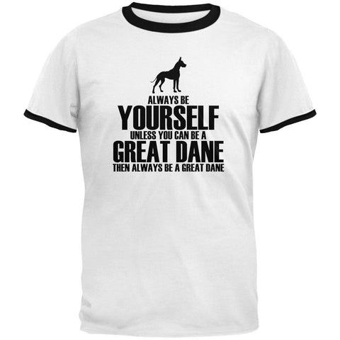 Always Be Yourself Great Dane Mens Ringer T Shirt