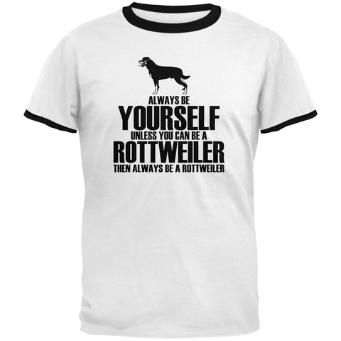 Always Be Yourself Rottweiler Mens Ringer T Shirt