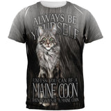 Always Be Yourself Unless Maine Coon Cat All Over Mens T Shirt