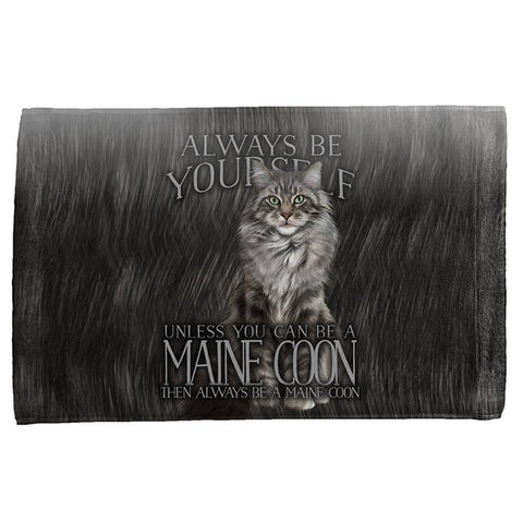 Always Be Yourself Unless Maine Coon Cat All Over Hand Towel