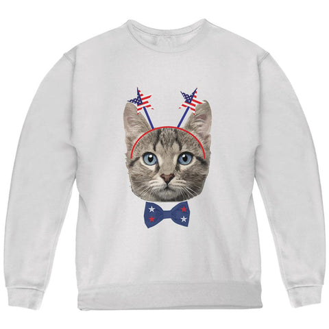 4th of July Funny Cat Youth Sweatshirt