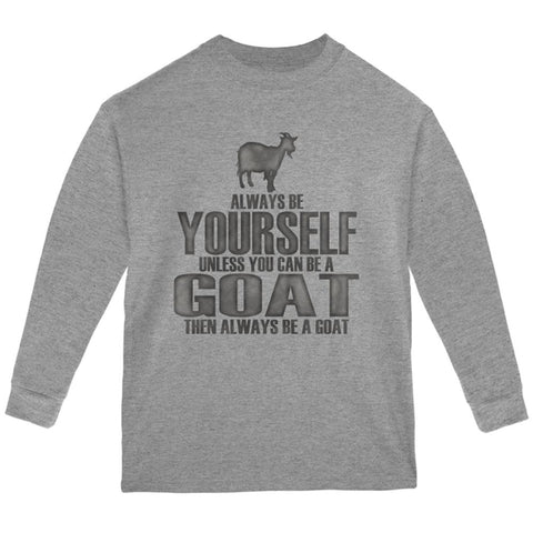 Always Be Yourself Goat Youth Long Sleeve T Shirt
