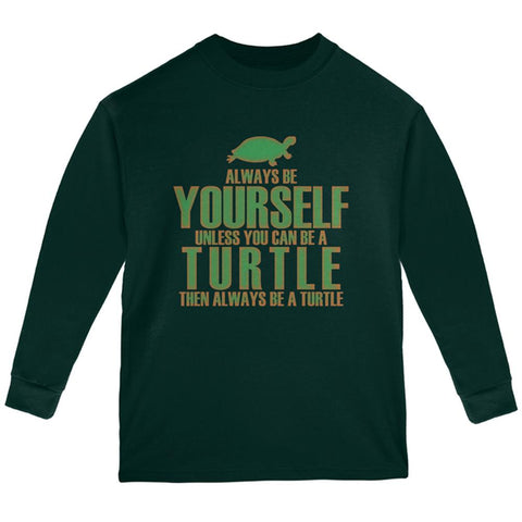 Always Be Yourself Turtle Youth Long Sleeve T Shirt