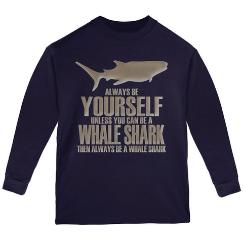 Always Be Yourself Whale Shark Youth Long Sleeve T Shirt