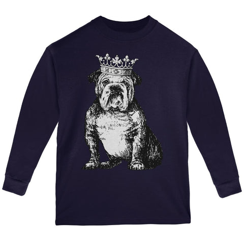 Bulldog Crown Youth Long Sleeve T Shirt