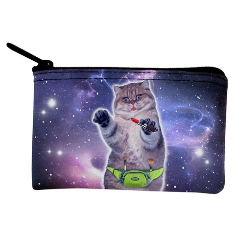Makeup Cat Funny Coin Purse