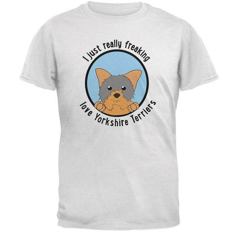 I Just Love Yorkshire Terriers Dog Mens Soft T Shirt