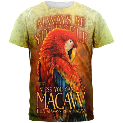Always Be Yourself Unless Scarlet Macaw All Over Mens T Shirt