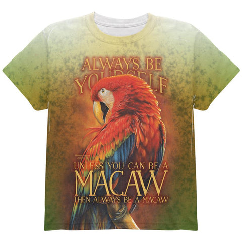 Always Be Yourself Unless Scarlet Macaw All Over Youth T Shirt