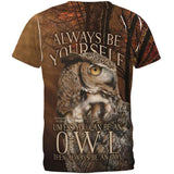 Always Be Yourself Unless Owl All Over Mens T Shirt