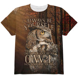 Always Be Yourself Unless Owl All Over Youth T Shirt