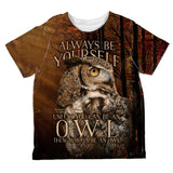 Always Be Yourself Unless Owl All Over Toddler T Shirt