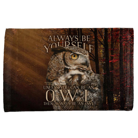 Always Be Yourself Unless Owl All Over Hand Towel