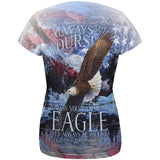 Always Be Yourself Unless American Bald Eagle All Over Womens T Shirt