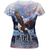 Always Be Yourself Unless American Bald Eagle All Over Juniors T Shirt