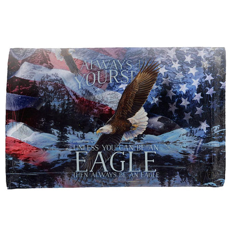 Always Be Yourself Unless American Bald Eagle All Over Hand Towel