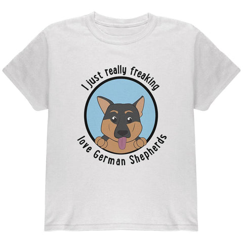 I Just Love German Shepherds Dog Youth T Shirt