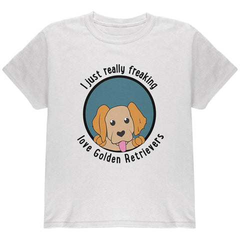 I Just Love Golden Retrievers Dog Youth T Shirt