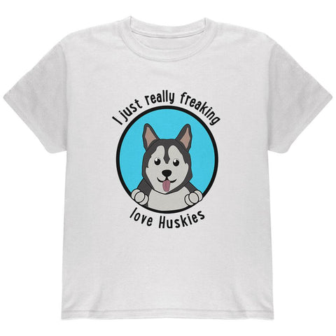 I Just Love Huskies Dog Youth T Shirt