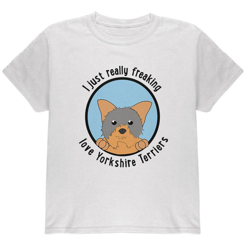 I Just Love Yorkshire Terriers Dog Youth T Shirt