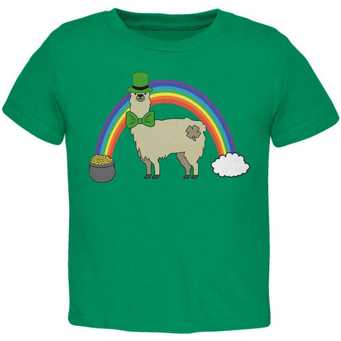 St. Patrick's Day Llama Cute Pot Of Gold Toddler T Shirt