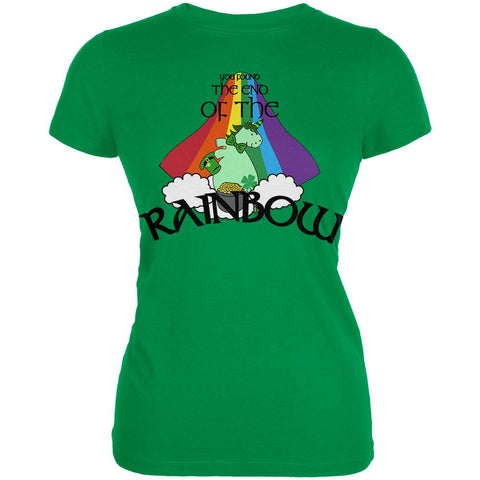 St. Patrick's Day Unicorn End Of The Rainbow Irish Juniors Soft T Shirt