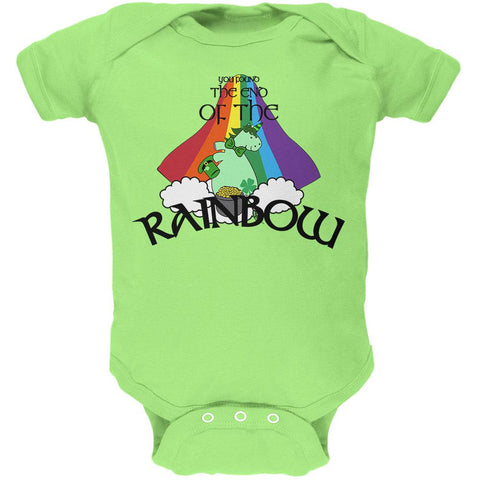 St. Patrick's Day Unicorn End Of The Rainbow Irish Soft Baby One Piece