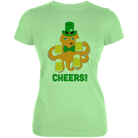 St. Patrick's Day Octopus Beer Funny Juniors Soft T Shirt