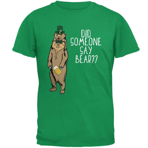 St. Patrick's Day Bear Beer Funny Pun Mens T Shirt