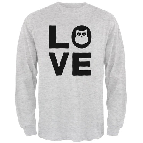 Owl Love Series Mens Long Sleeve T Shirt