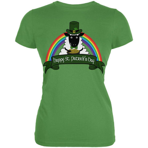 St. Patrick's Day Irish Sheep Leprechaun Gold Luck Juniors Soft T Shirt