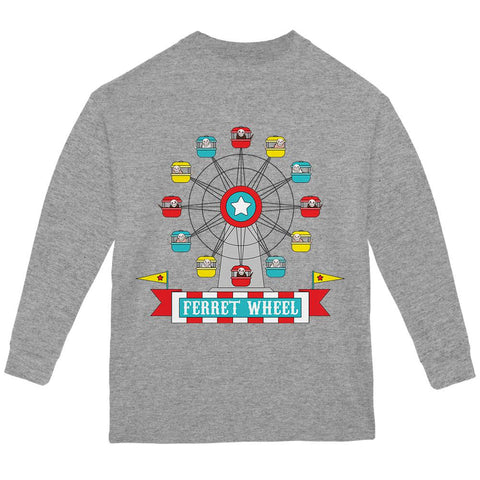 Ferris Wheel Ferret Pun Youth Long Sleeve T Shirt
