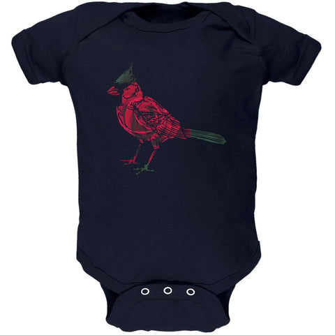 Spring Flower Cardinal Bird Roses Soft Baby One Piece