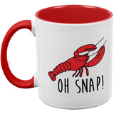 Lobster Crustacean Oh Snap Red Handle Coffee Mug