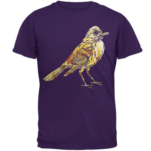 Easter Spring Flowers Robin Bird Mens T Shirt
