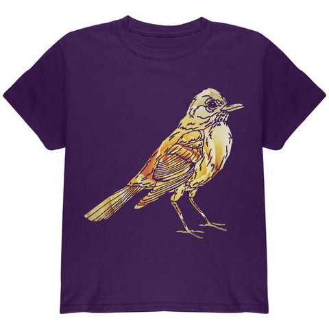Easter Spring Flowers Robin Bird Youth T Shirt