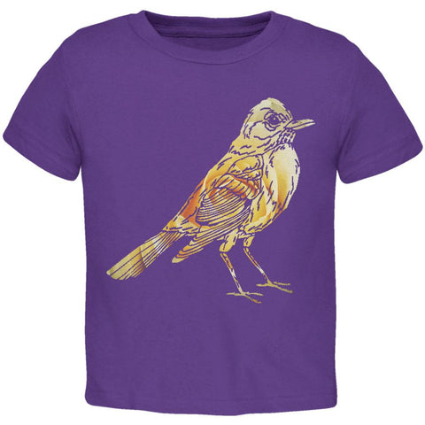 Easter Spring Flowers Robin Bird Toddler T Shirt