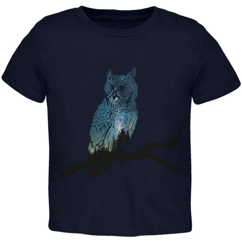 Owl Starry Night Sky Toddler T Shirt