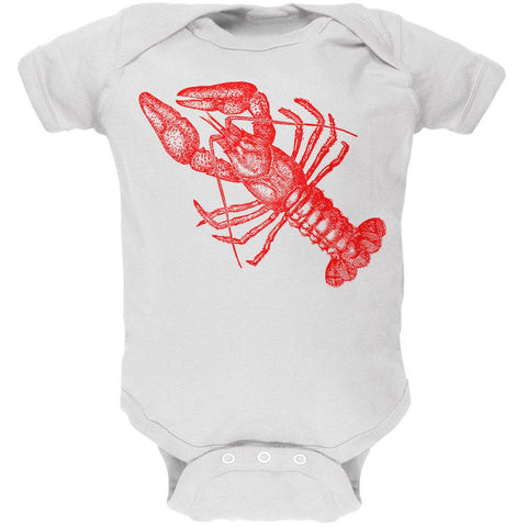 Lobster Crustacean Copperplate Soft Baby One Piece