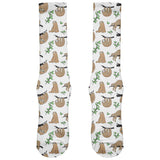 Sloth Pattern Nature Leaves Cute All Over Soft Socks