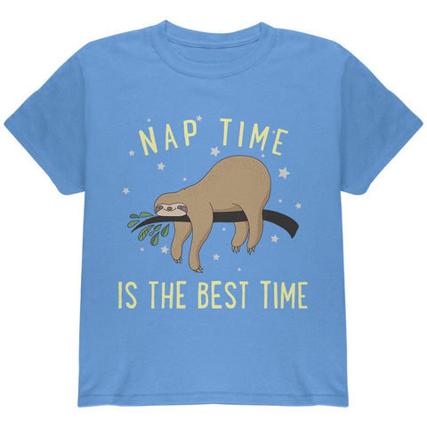 Sloth Nap Time Is The Best Youth T Shirt