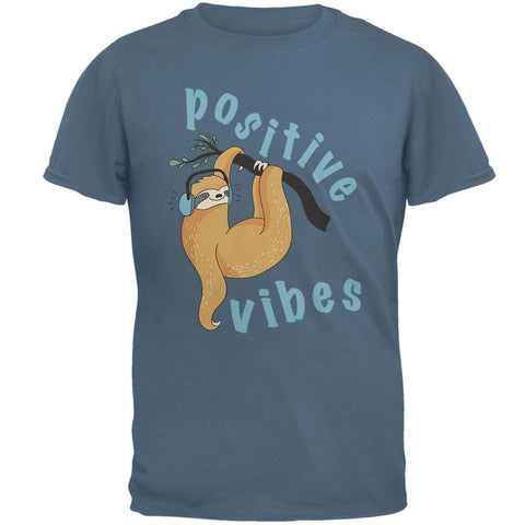 Sloth Positive Good Vibes Mens T Shirt