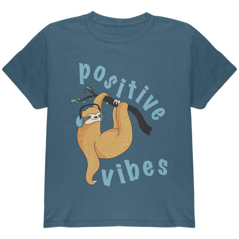 Sloth Positive Good Vibes Youth T Shirt